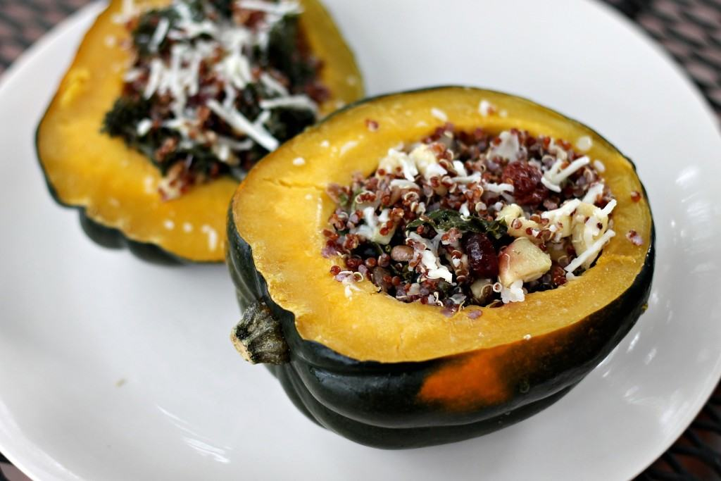 Apple Cider Quinoa Stuffed Acorn Squash - Smile Sandwich