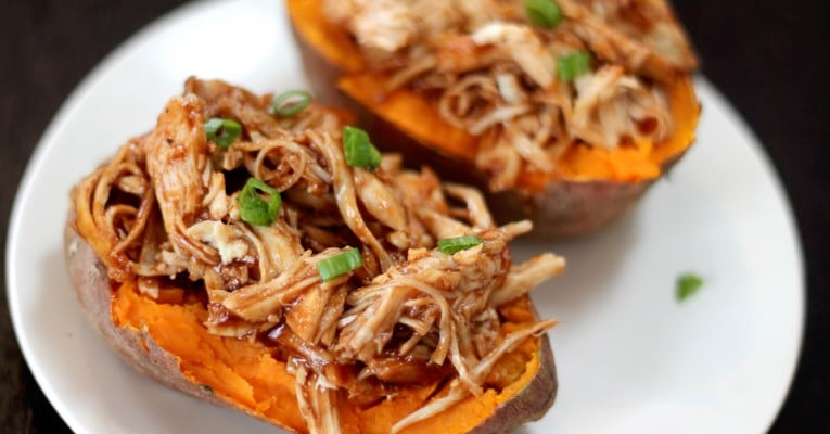 Barbecue Chicken Stuffed Sweet Potato