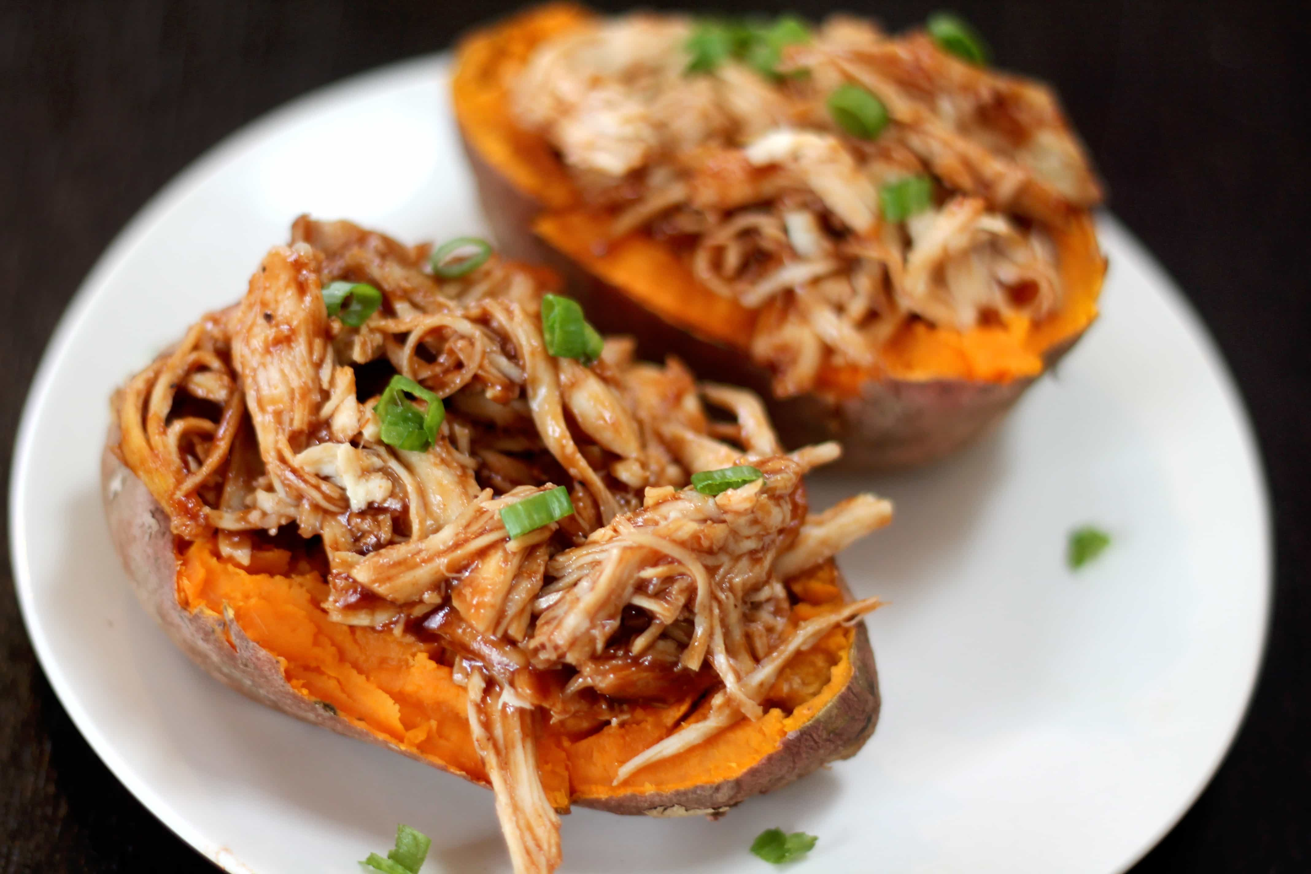Barbecue chicken stuffed sweet potatoes smile sandwich barbecue chicken stuffed sweet potato if you close your eyes you can just imagine yourself eating this meal at a friendly barbecue party instead of forumfinder Image collections