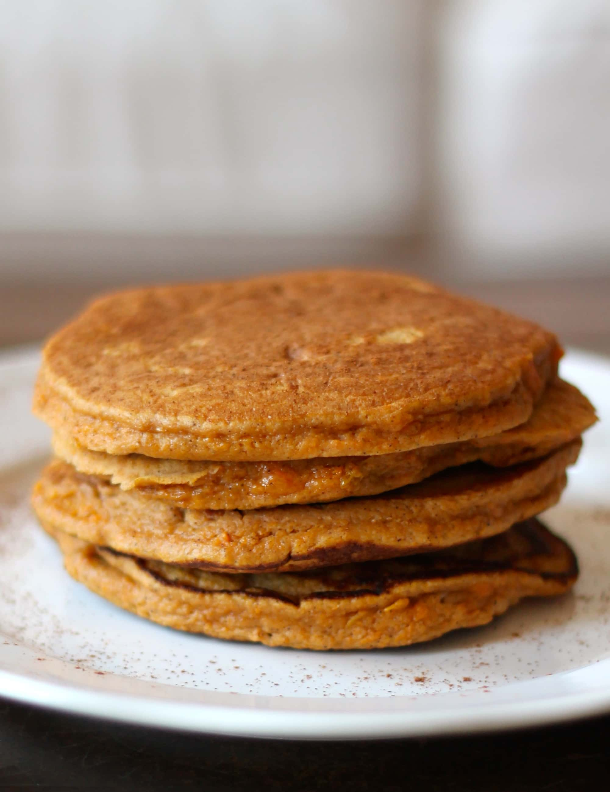 love making a big batch of these paleo sweet potato pancakes at the ...
