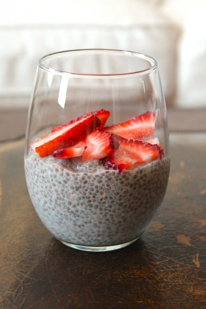 Strawberry Shortcake Chia Pudding