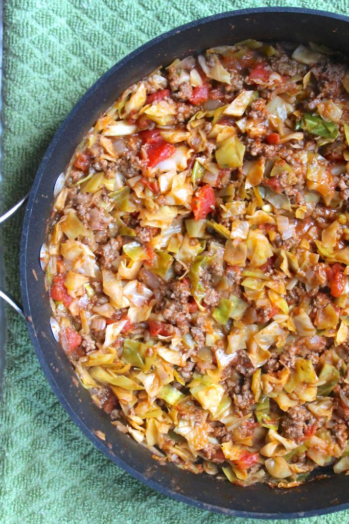 Amish One Pan Ground Beef and Cabbage Skillet