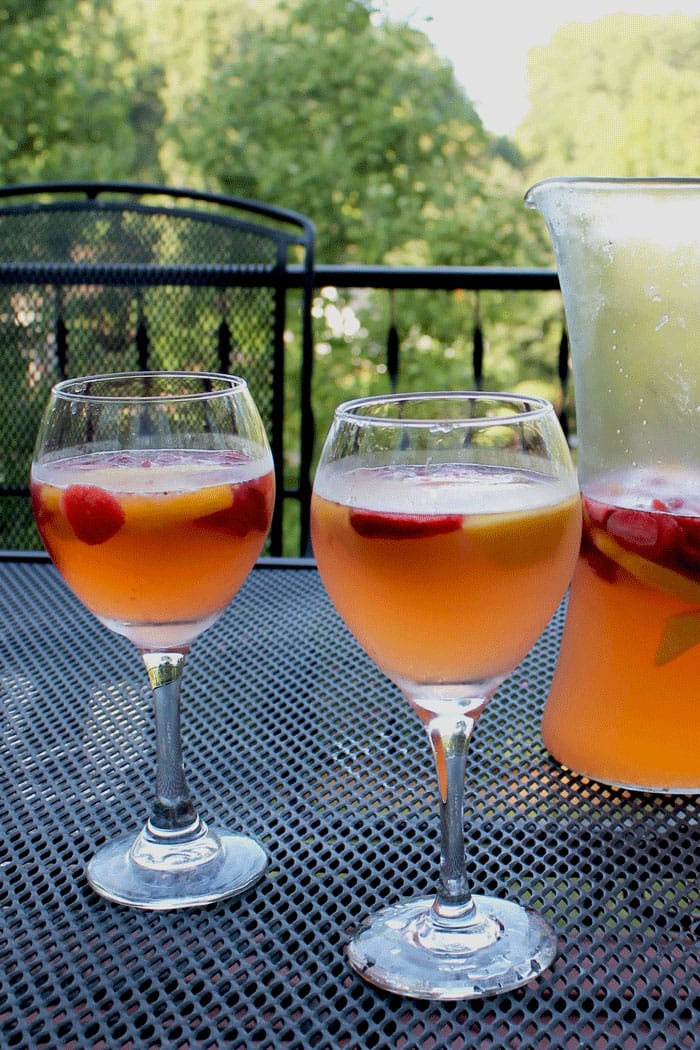 ... Strawberry Peach Sangria is the perfect way to use up fresh peaches