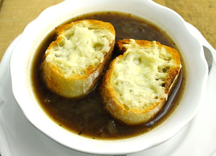 This classic recipe for French Onion Soup with Gruyere Toast is the ...