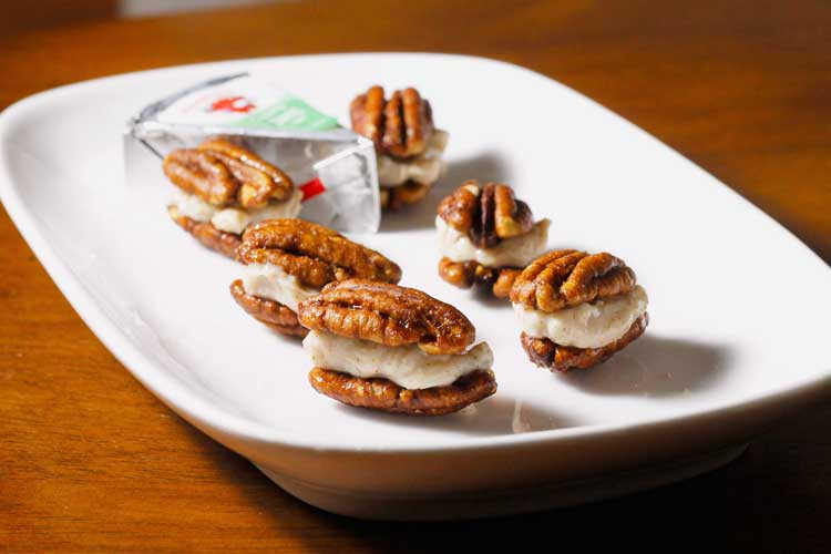 The Laughing Cow Pecan Cheesecake Bites