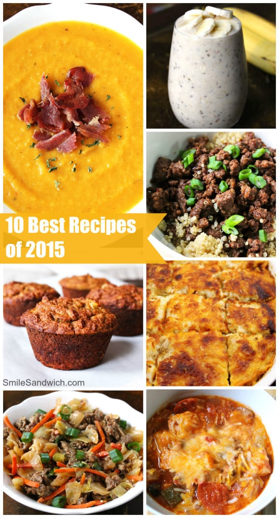 10 Best Recipes of 2015 Smile Sandwich