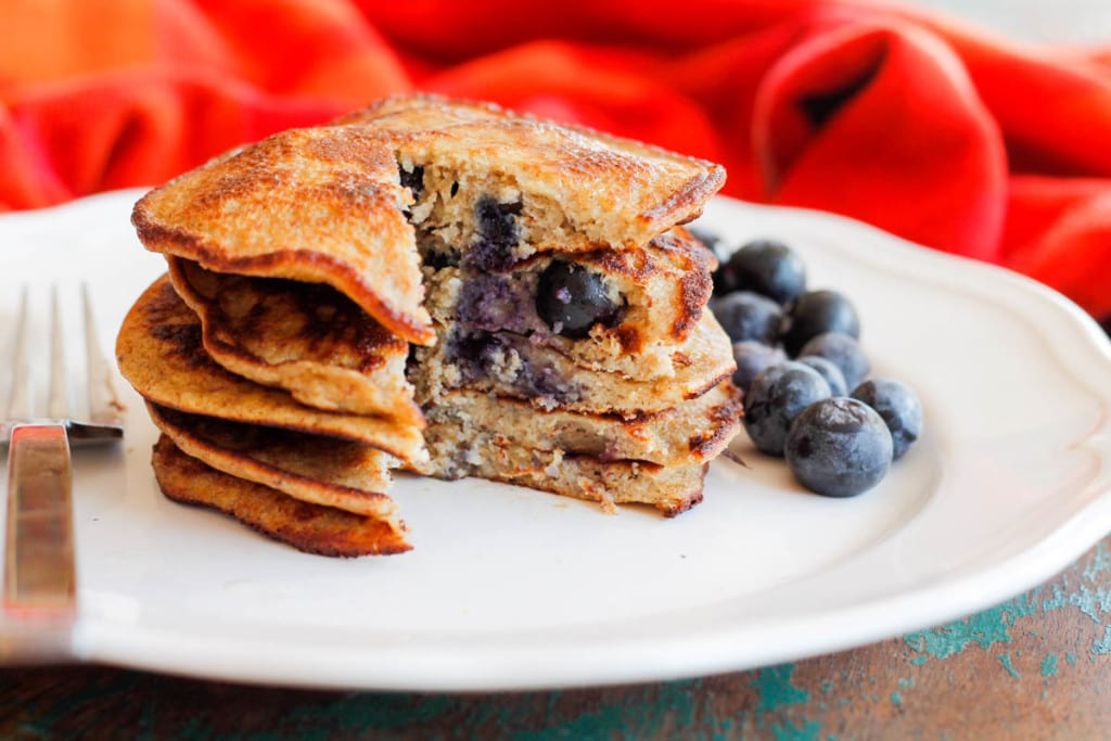 Grain-Free Blueberry Pancakes-4