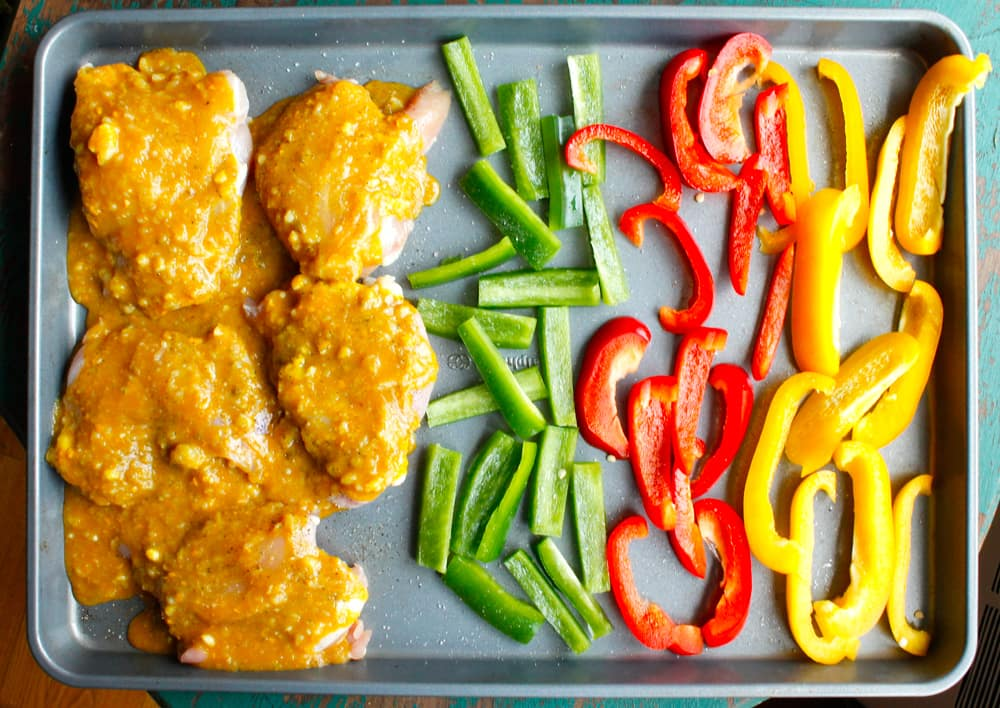 One Pan Chicken and Peppers
