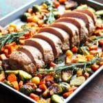 One Pan Pork Tenderloin with Fall Vegetables