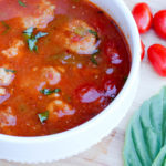 Light Meatball Tomato Basil Soup