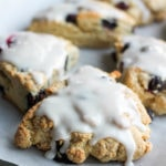 Easy Glazed Blueberry Scones