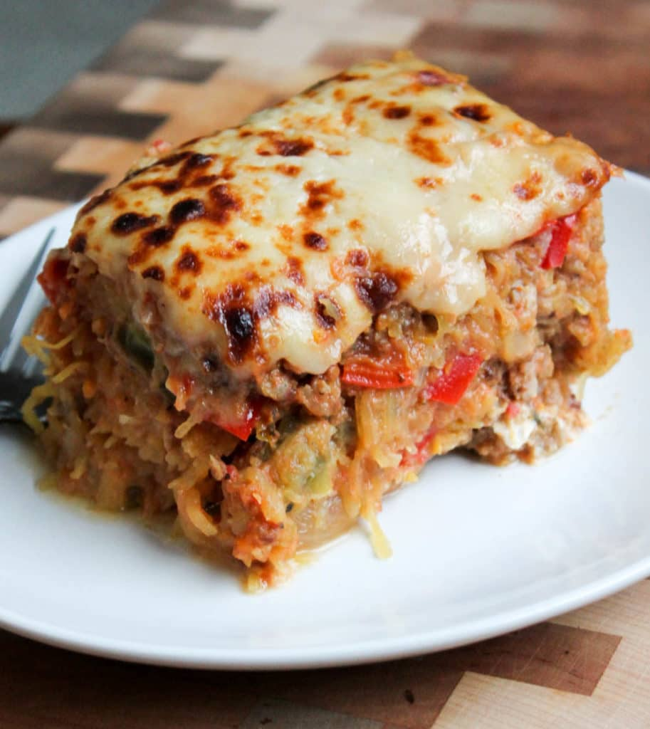 Sausage and Peppers Spaghetti Squash Casserole