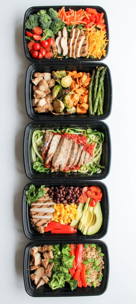 Grilled Chicken Meal Prep Bowls: 5 Ways