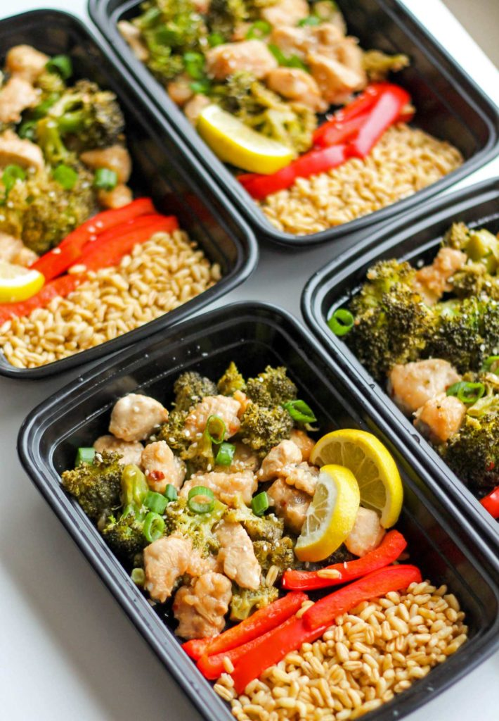 Chinese Lemon Chicken Meal Prep Bowls Smile Sandwich