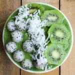 Kiwi Dragonfruit Green Smoothie Bowl