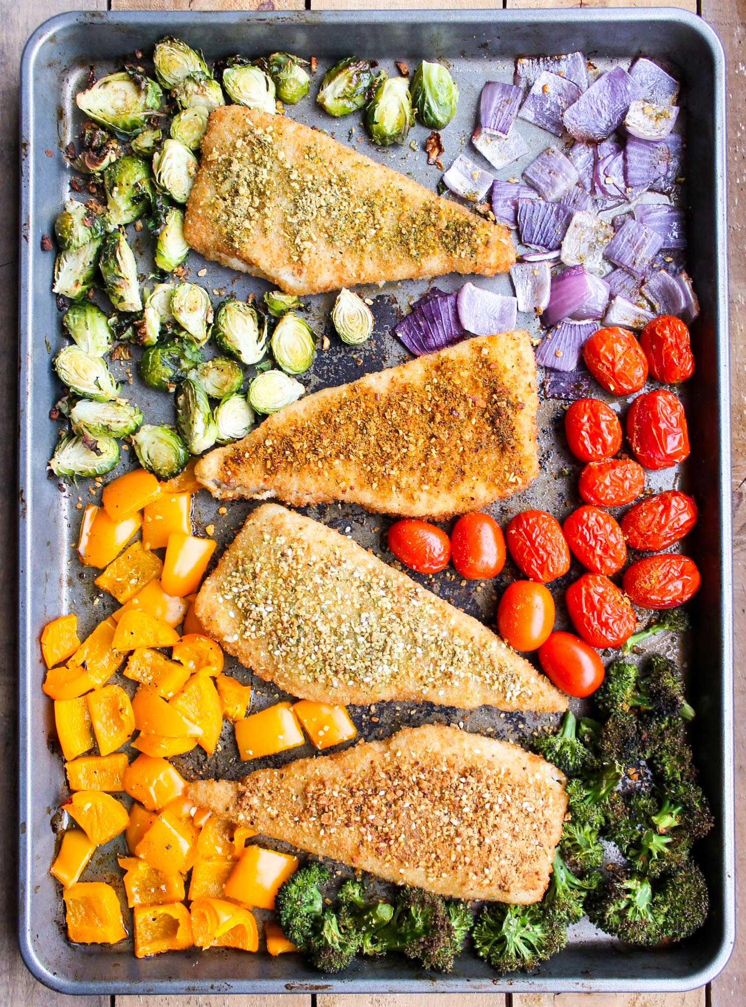 30 minute one pan fish and vegetables smile sandwich for What vegetables go with fish