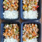 Peanut Chicken Stir Fry Meal Prep Bowl