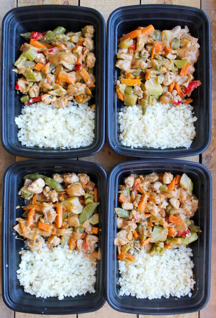 Peanut Chicken Stir Fry Meal Prep Bowl Smile Sandwich