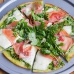 Prosciutto Arugula Pizza with Cauliflower Crust