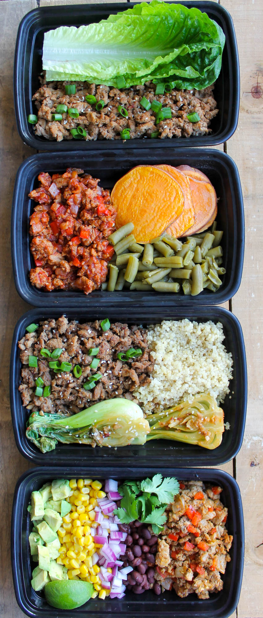 Ground Turkey Meal Prep Bowls: 4 Ways
