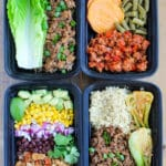 Easy Ground Turkey Meal Prep Bowls: 4 Ways