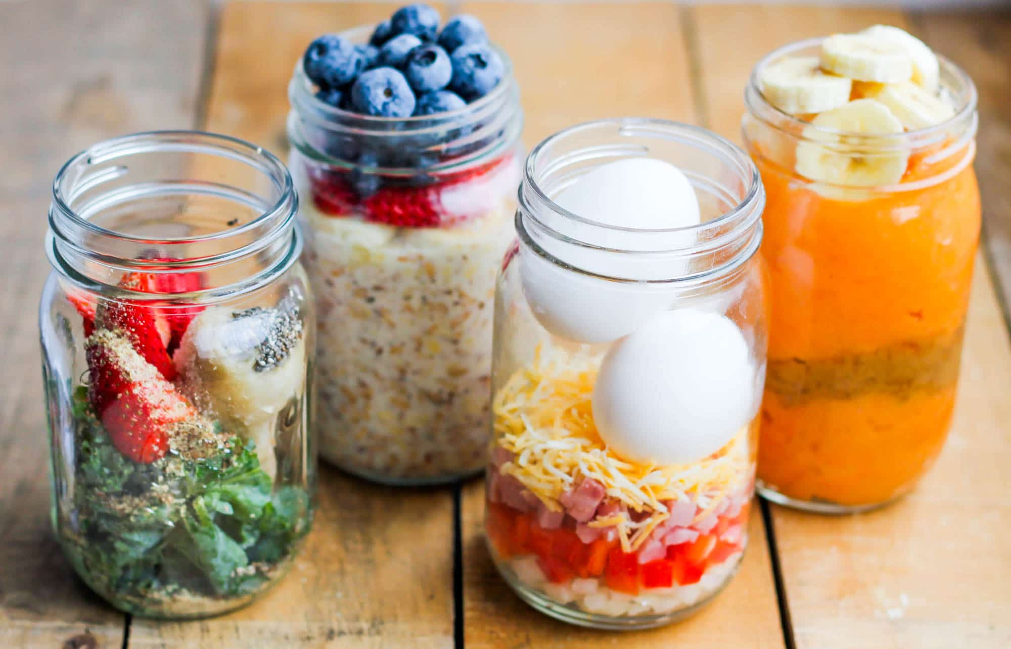 make ahead healthy breakfast meal prep jars 4 ways smile sandwich