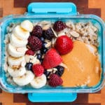 Peanut Butter Banana Instant Pot Steel Cut Oats