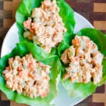 Buffalo Chicken Salad Lettuce Cups