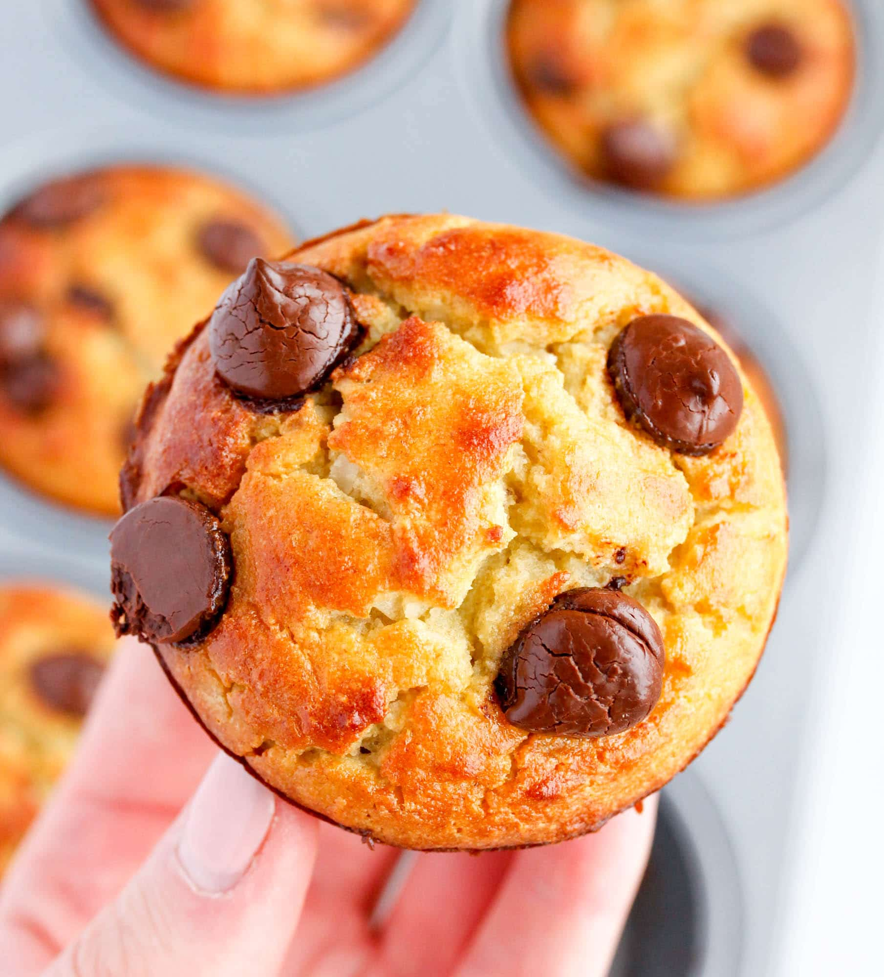5-Minute Blender Paleo Banana Muffins with Chocolate Chips and Coconut
