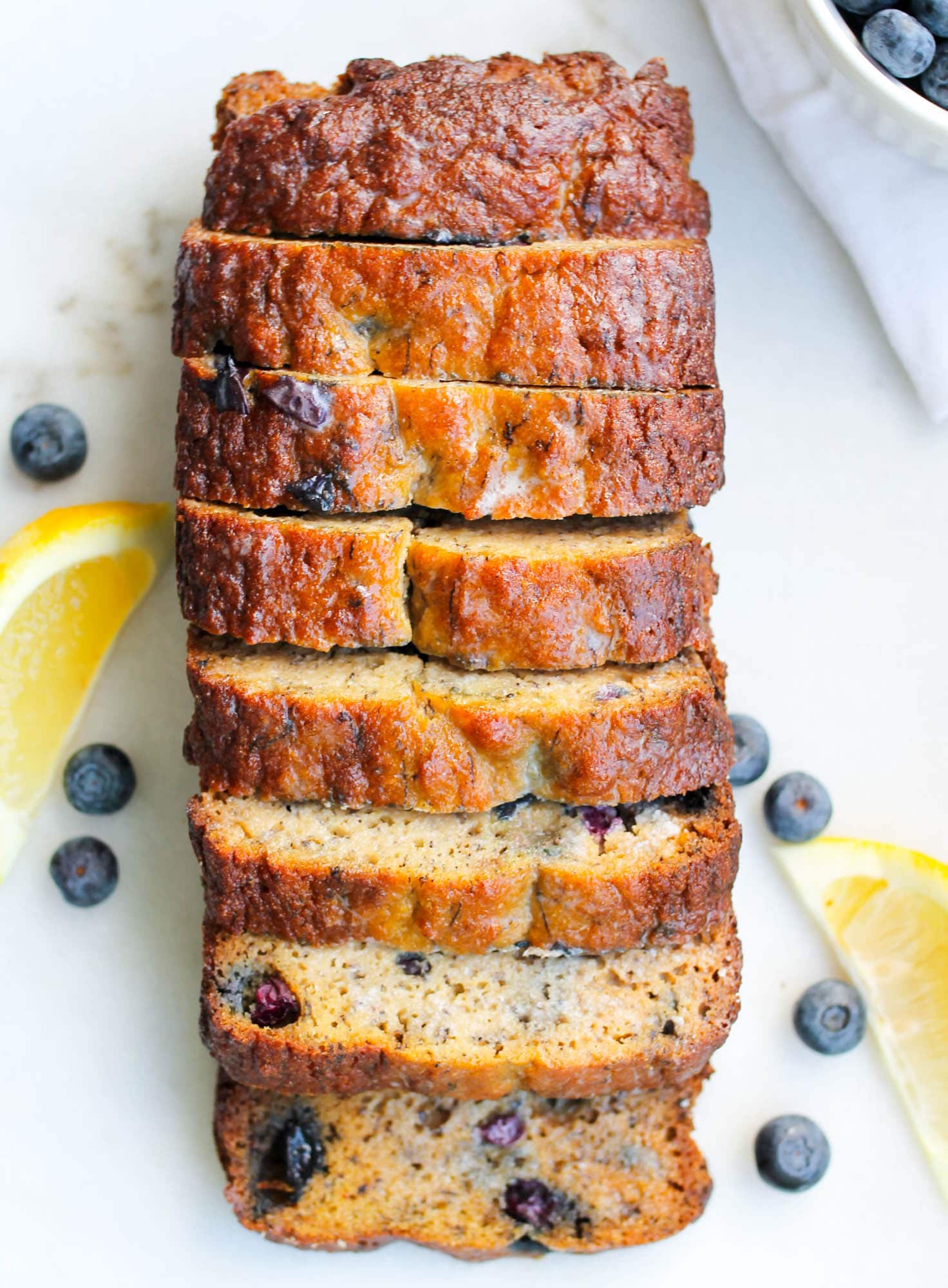 Paleo Lemon Blueberry Bread