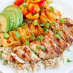 Grilled Chicken and Pineapple Bowls with Coconut Rice