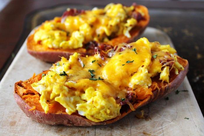 Breakfast Stuffed Sweet Potatoes