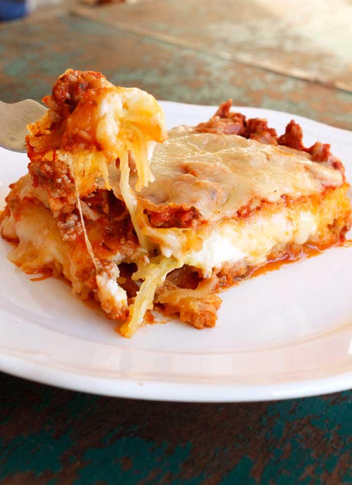 Spaghetti Squash Lasagna With Turkey Meat Sauce Smile