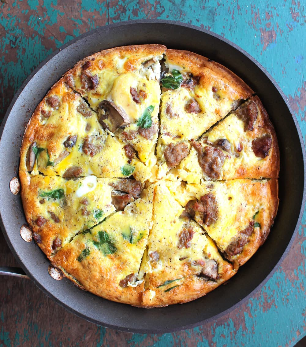 Stupidly Easy Spinach Sausage Crustless Quiche Smile