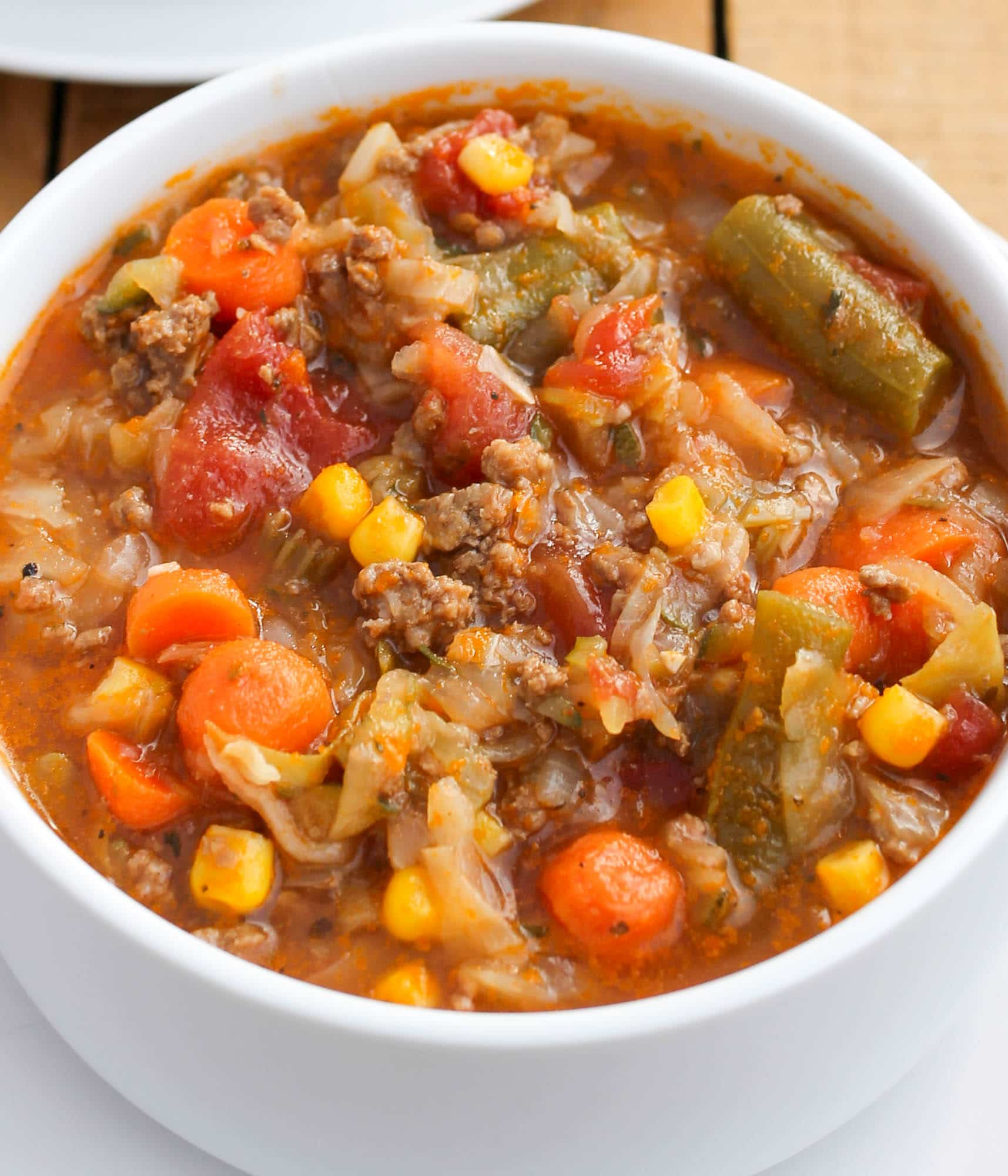 Ground Beef And Cabbage Soup