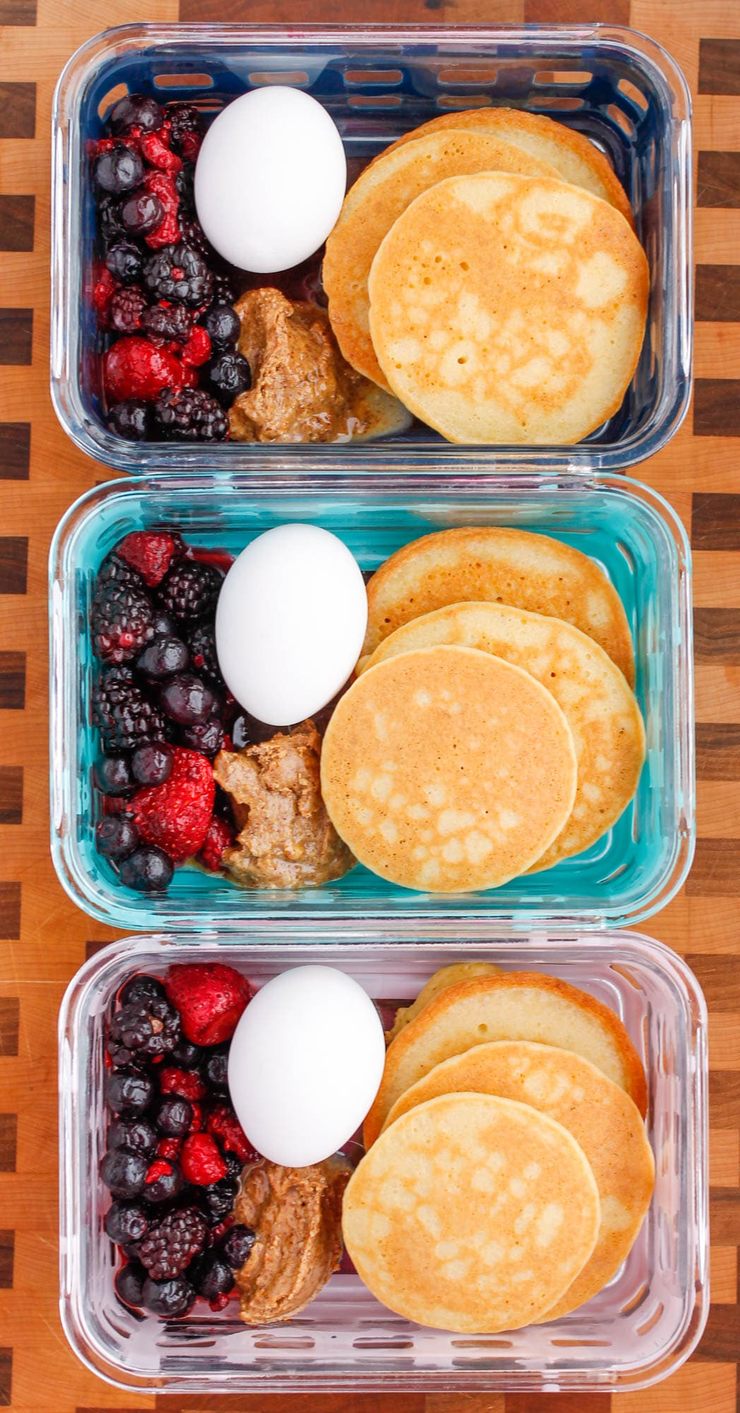 Paleo Pancake Breakfast Meal Prep Bowls - Smile Sandwich